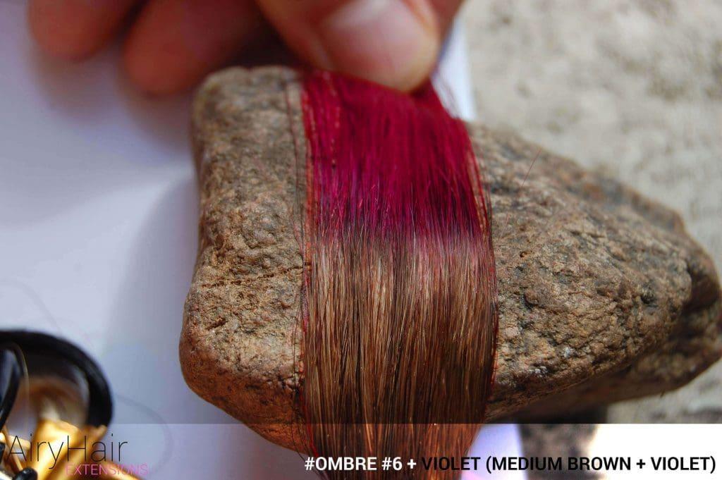 #Ombré #6 / #Violet (Medium Brown + Violet)