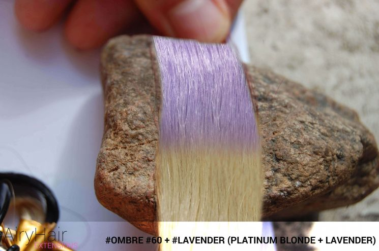 #Ombré #60 / #Lavender (Platinum Blonde + Lavender)