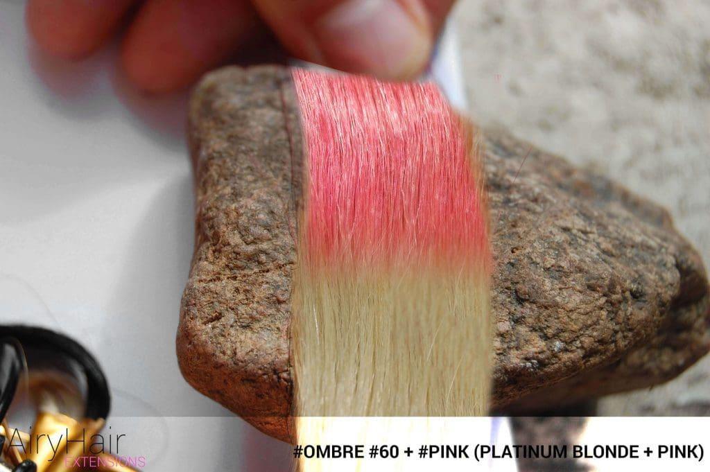 #Ombré #60 / #Pink (Platinum Blonde + Pink)