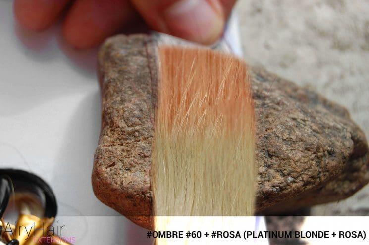 #Ombré #60 / #Rosa (Platinum Blonde + Rosa)