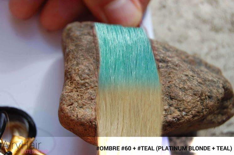 #Ombré #60 / #Teal (Platinum Blonde + Teal)