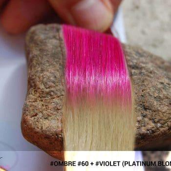 #Ombré #60 / #Violet (Platinum Blonde + Violet)