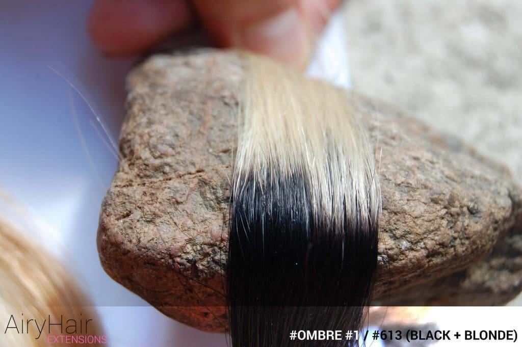 #T1 / #613 (Black + Blonde) Ombre Hair Colors