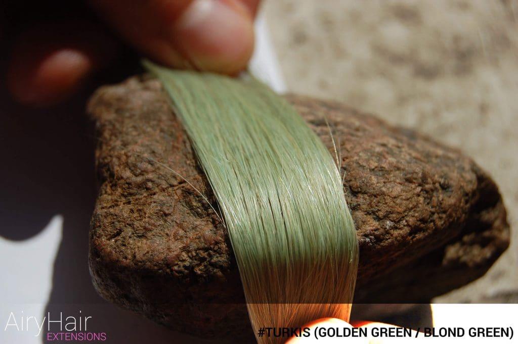 #Turkis (Golden Green / Blond Green) Hair Color