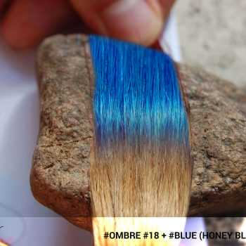 #Ombré #18 / #Blue (Platinum Blonde + Blue)