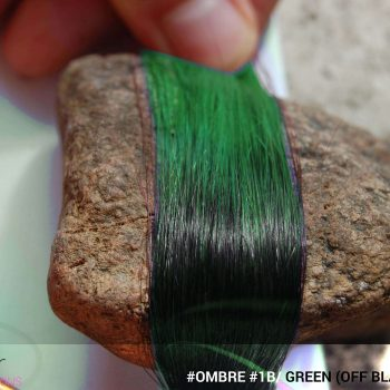 #Ombré #1B / #Green (Off Black + Green)