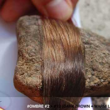 #Ombré #2 / #12 (Dark Brown + Warm Light Brown)