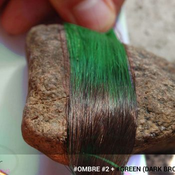 #Ombré #2 / #Green (Dark Brown + Green)