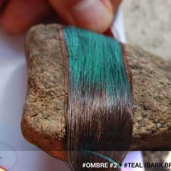 #Ombré #2 / #Teal (Dark Brown + Teal)
