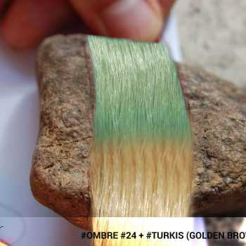 #Ombré #24 / #Turkis (Golden Brown + Turkis)