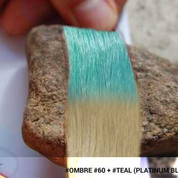 #Ombré #60 / #Teal (Platinum Blonde + Teal)