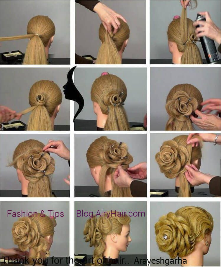 Step by Step: Amazing Flower Blossom Hairstyle Tutorial