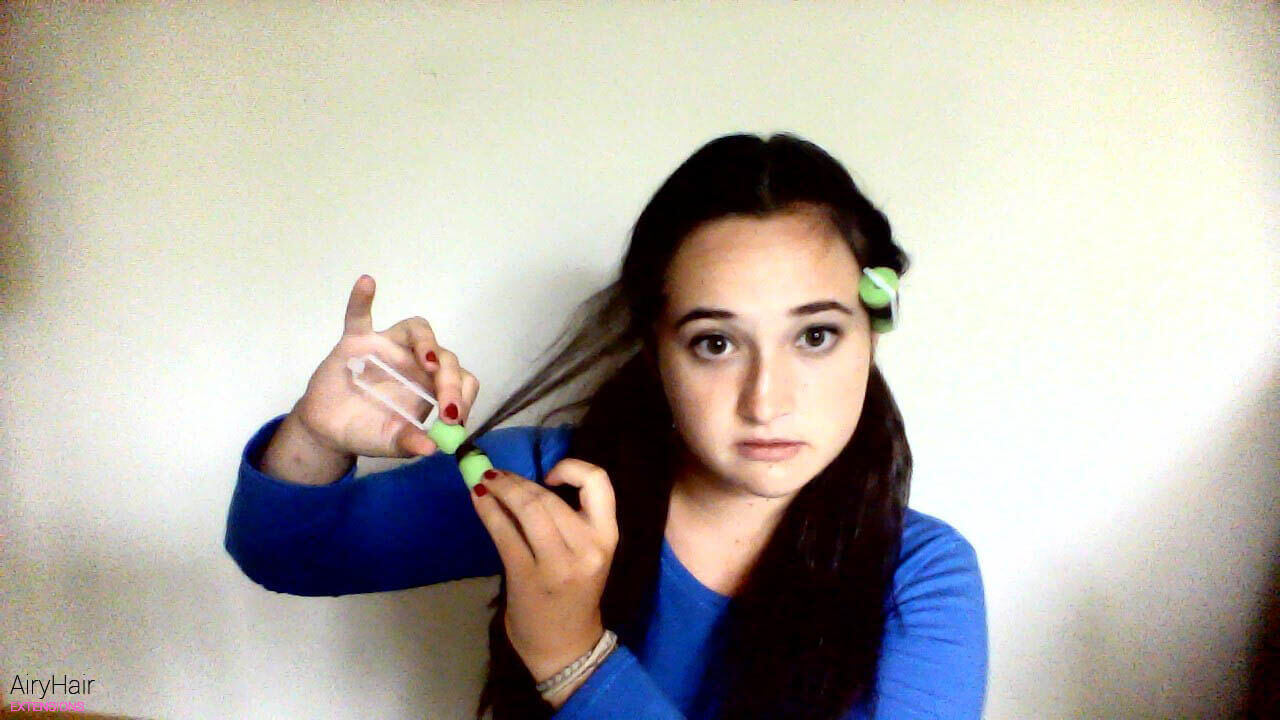 Create two pigtails below your ears