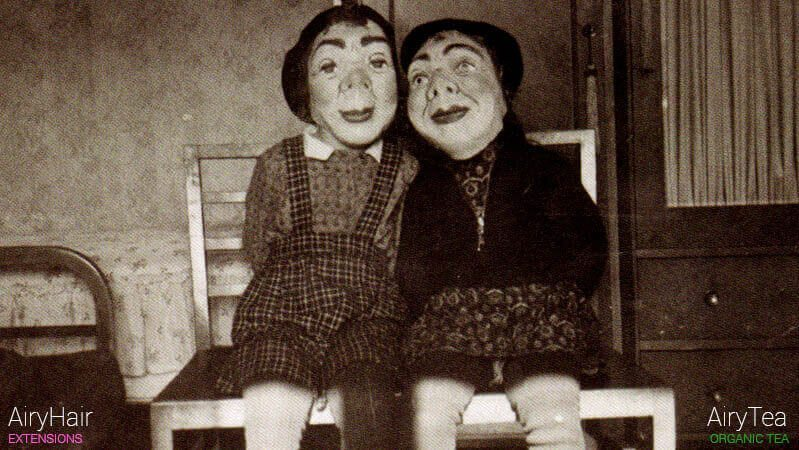 Creepy Halloween couple, vintage costume