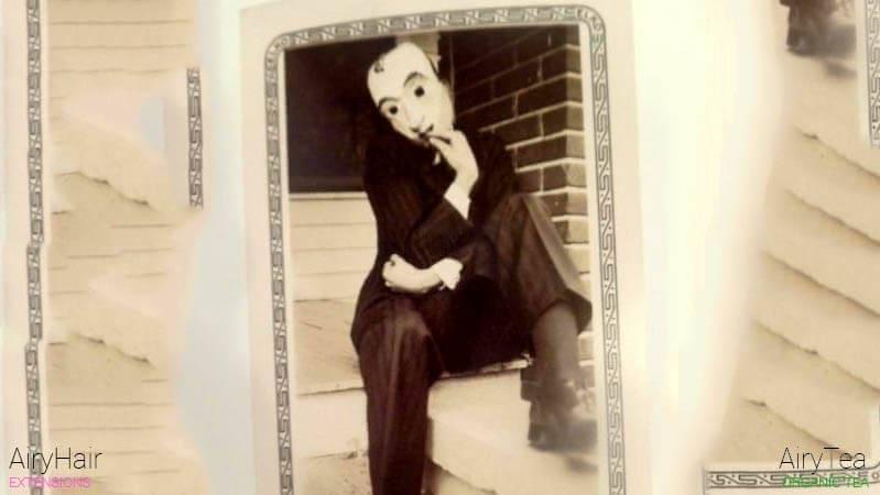 Old devil costume for Halloween