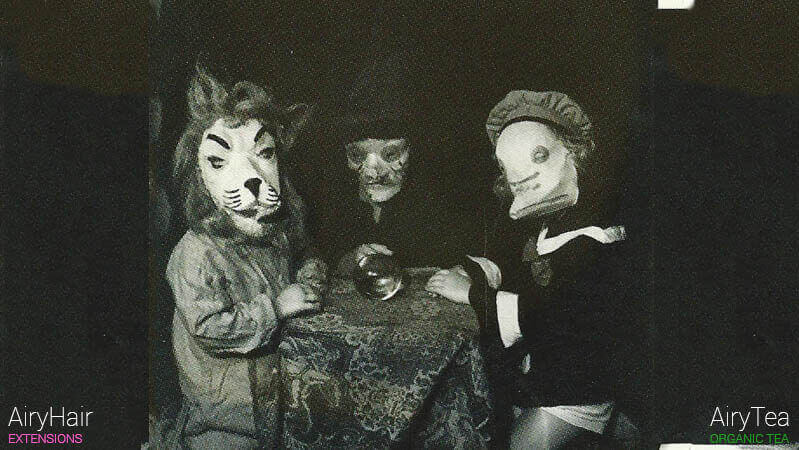 Creepy duck, lion and a witch costume