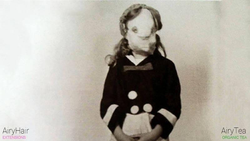 Creepy vintage Halloween face costume