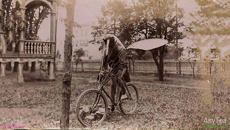 Spooky bike rider, mosquito
