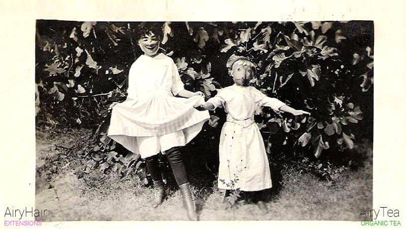 Two creepy kids on a Halloween day