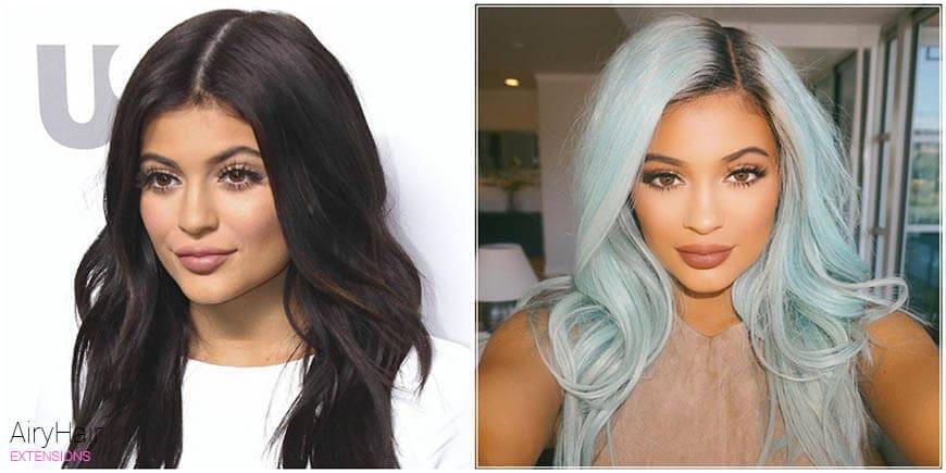 Kylie Jenner Outrageous Hair Dye