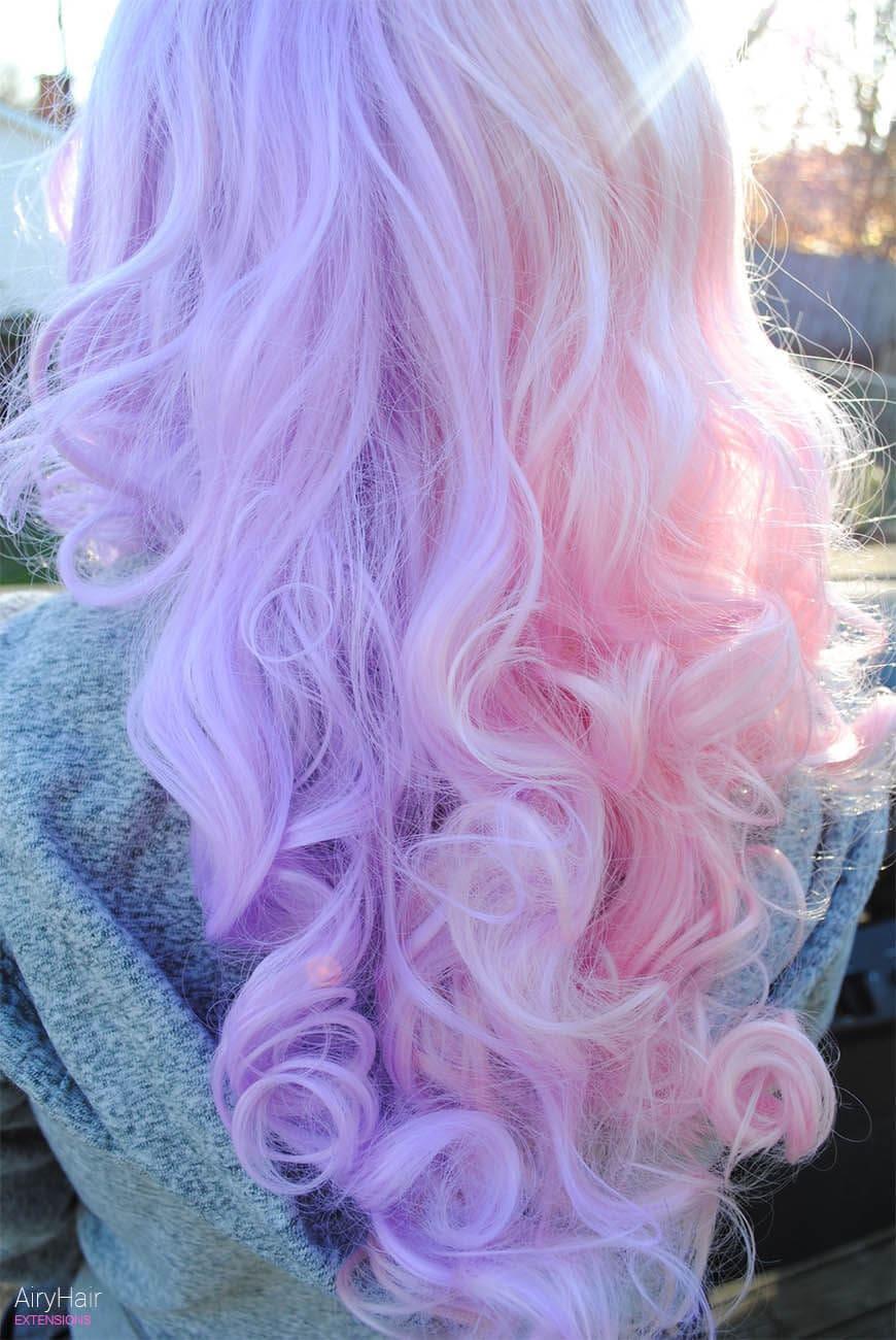 Angelic rainbow hairstyle