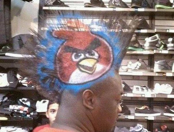 Angry Birds Haircut for Men
