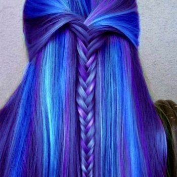 Crazy Blue Hairstyle Rainbow Ideas