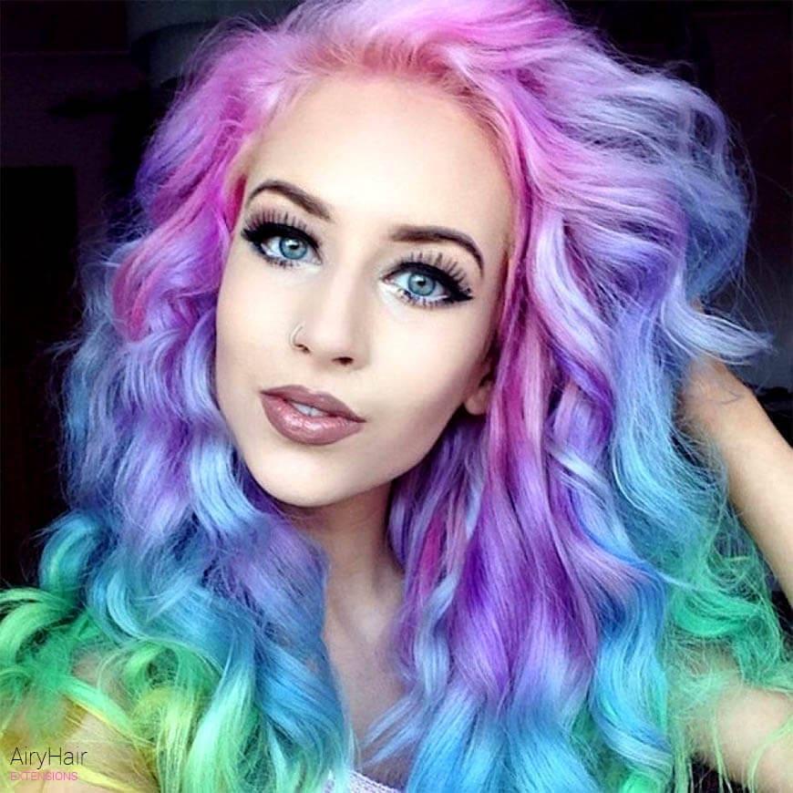 Crazy rainbow hairstyle