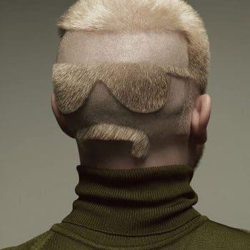 Sunglasses with Moustache Men Haircut