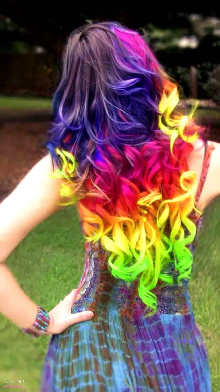 Rainbow hairstyle ideas