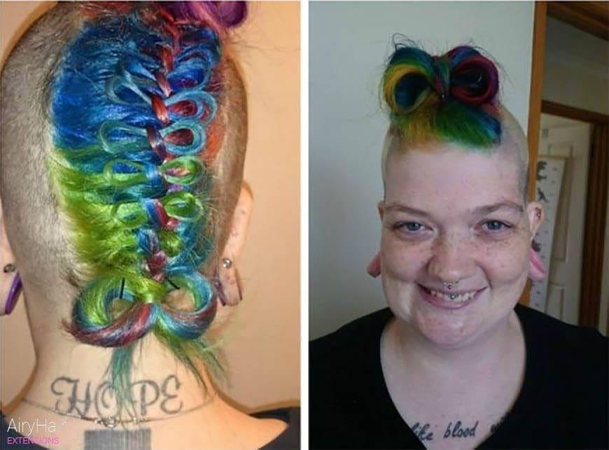 Weird rainbow haircut