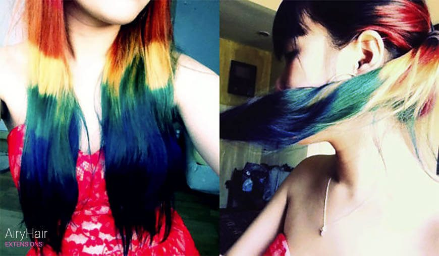 Amazing colorful hairstyle