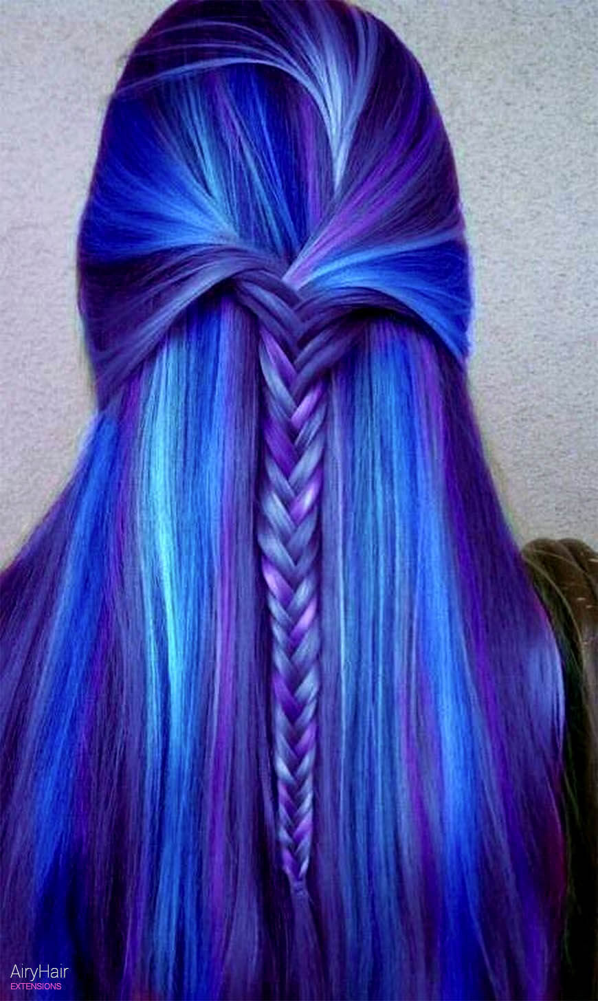 Crazy blue hairstyle