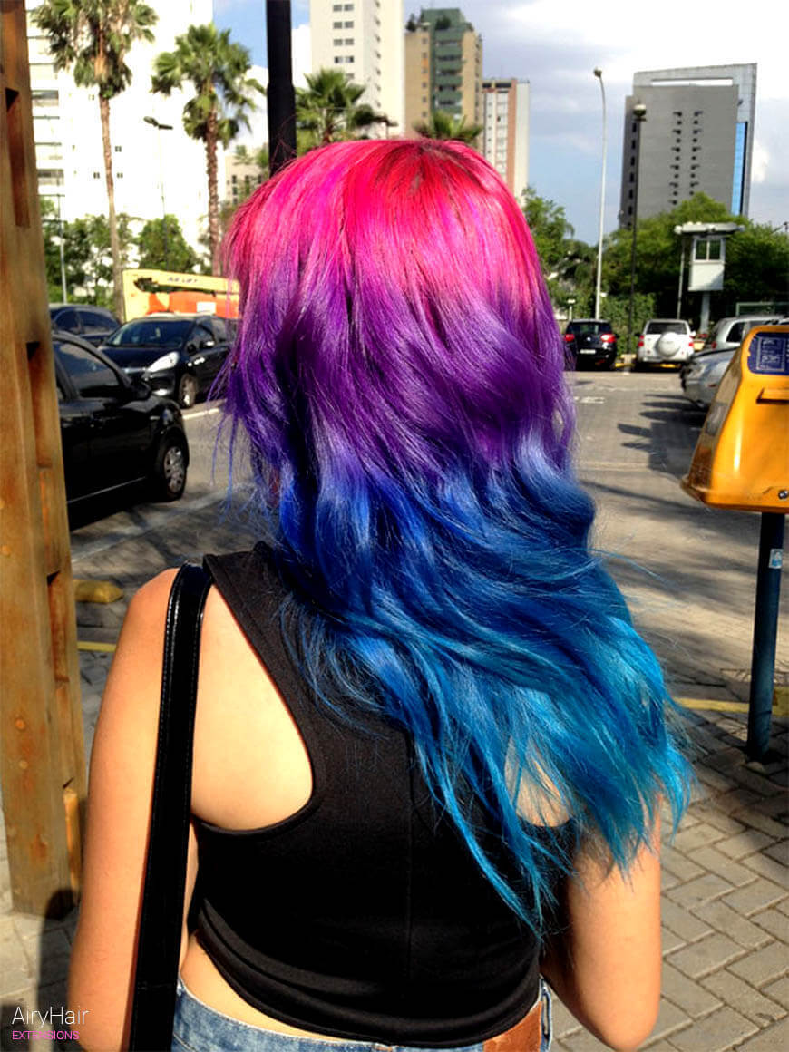 Pink and purple hairstyle color ideas