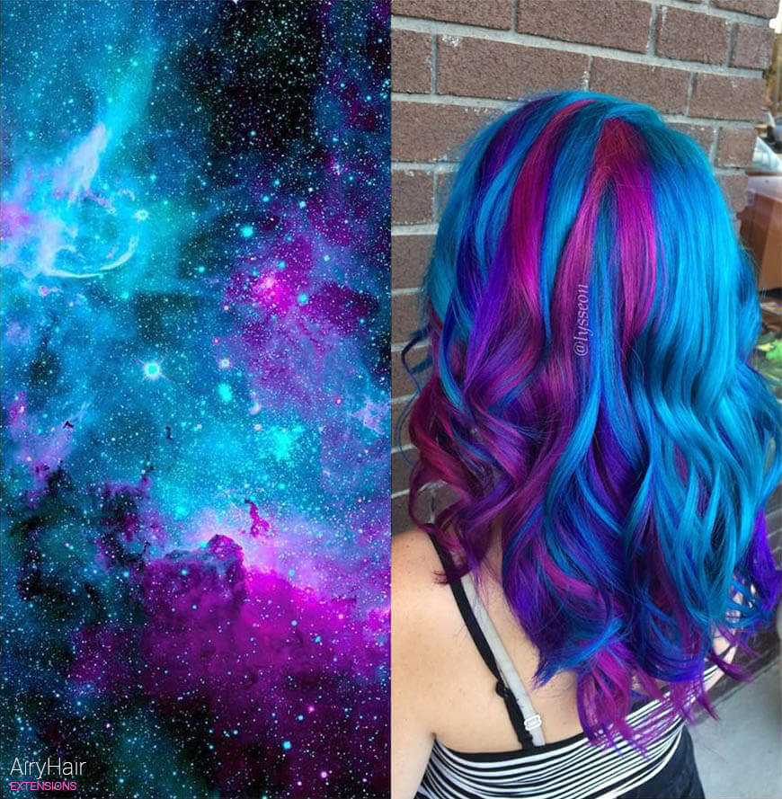 Amazing galaxy hair
