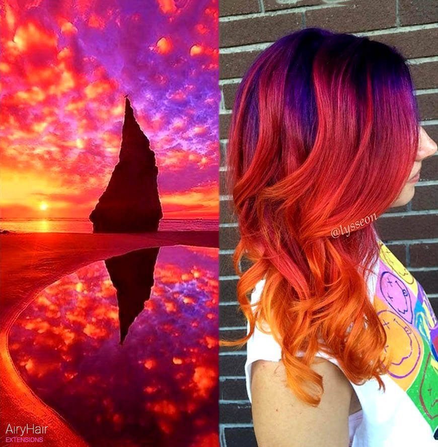Crazy red galaxy hair