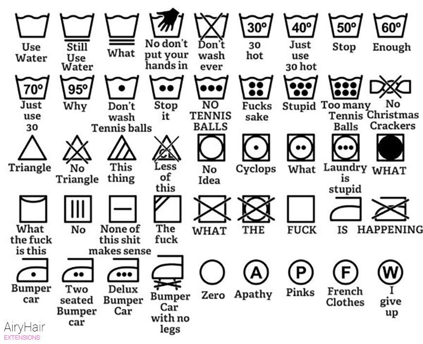 Those symbols are care instructions that follow an international standard that was brought about in the s when scientific revolutions in textiles created a never-before seen boom in fashion. With it, came the need for more washing & drying options.