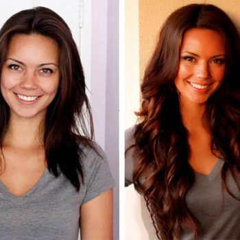 Hair extensions before after images medium and short hair hair extensions before and after brunette pmusecretfo Gallery