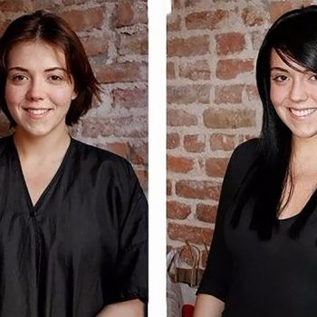 Hair extensions before after images medium and short hair microring loops hair extensions before and after pmusecretfo Choice Image