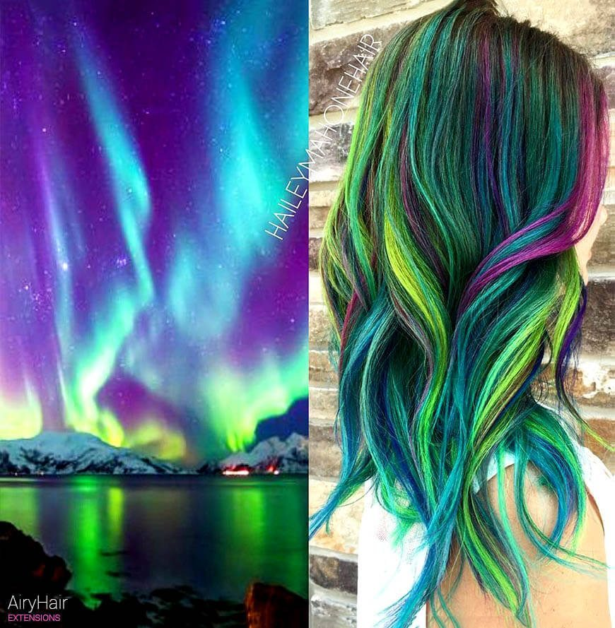 Incredible trends: galaxy hairstyle