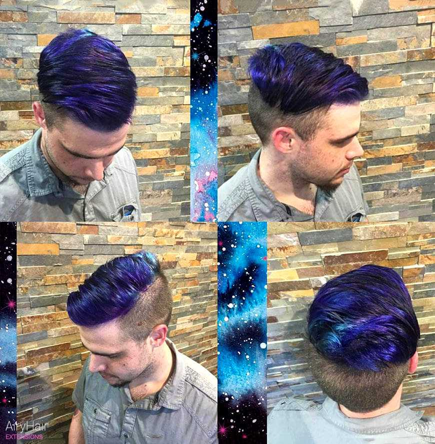 Galaxy hair for men