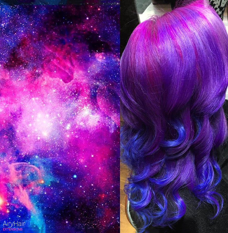 Mind blowing space hairstyle