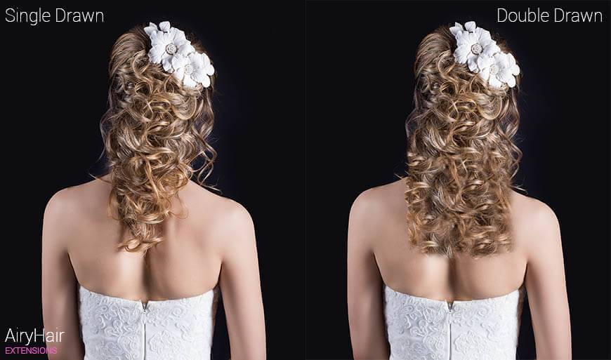 Single vs. Double Drawn Hair Extensions Compared