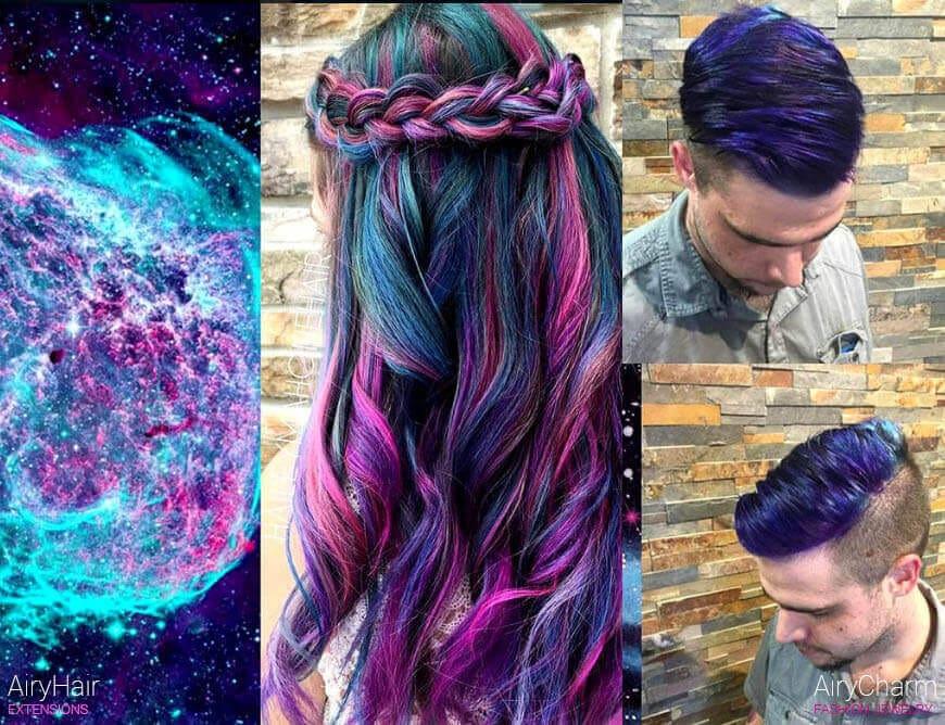 Galaxy hair dye