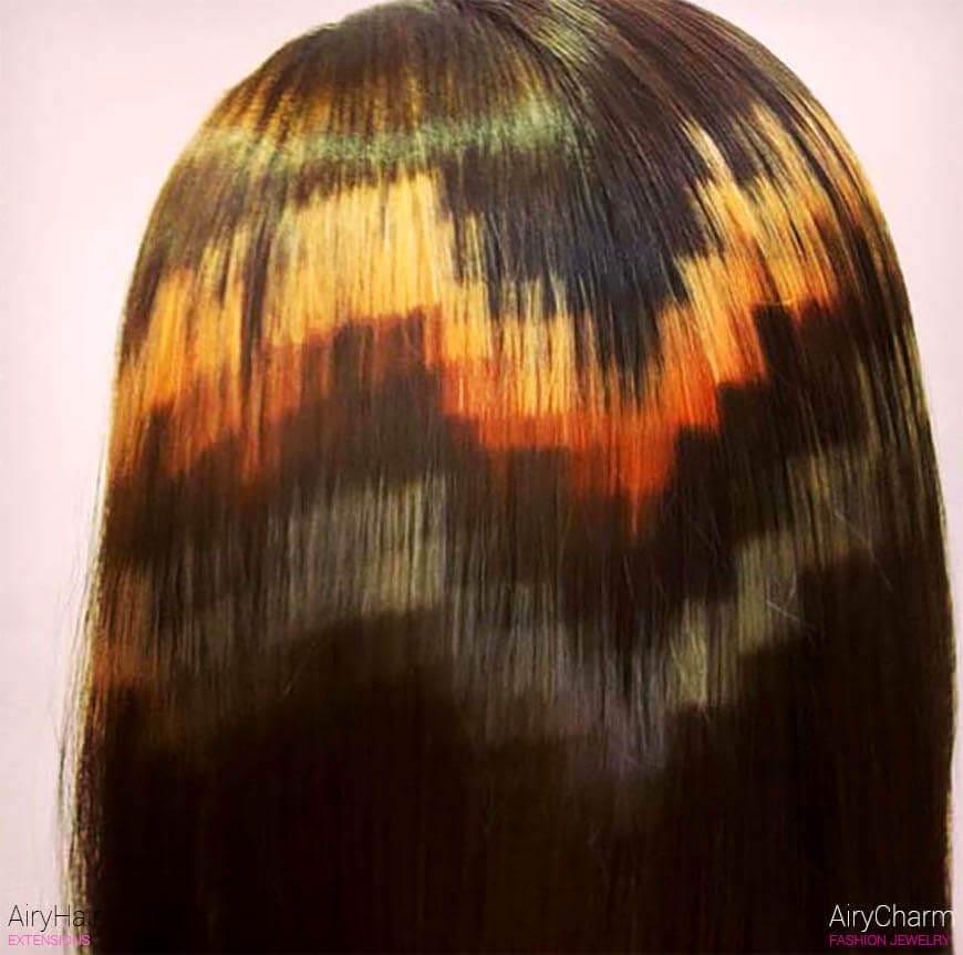 Gradient pixel art hair