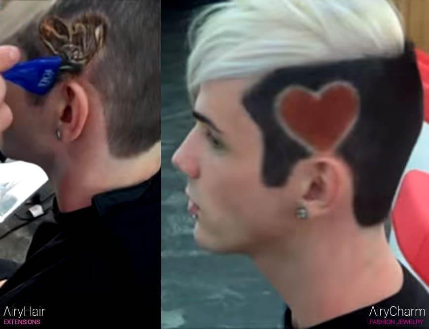 Heart pattern hair