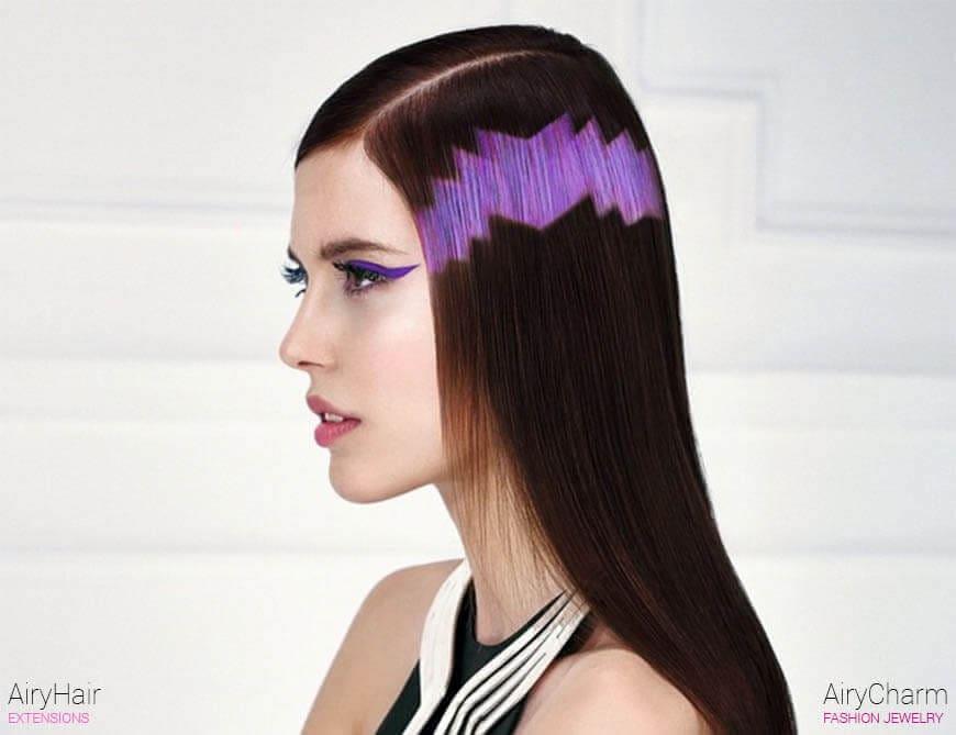 Pink pixel art hair