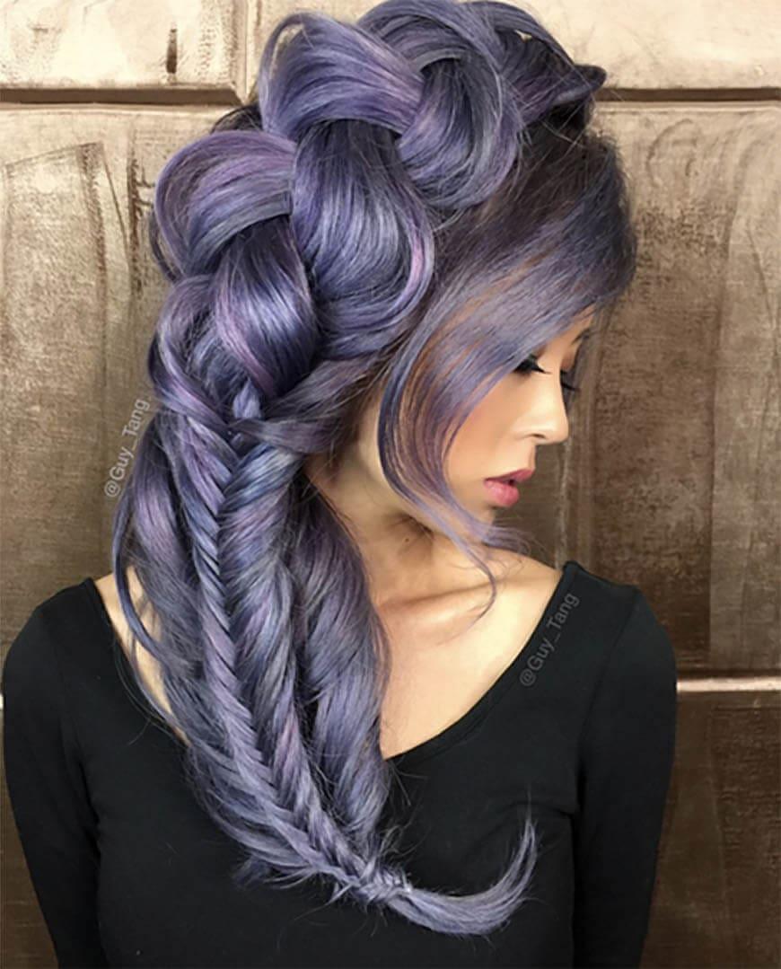 Lavender fishtail…
