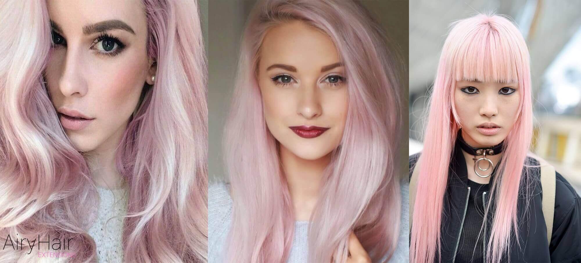 Pink pastel hair color