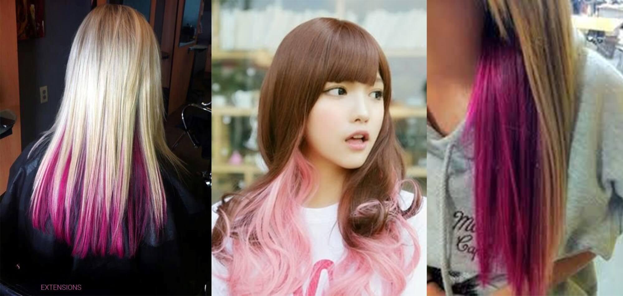 Pink underlayer hairstyle